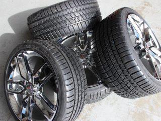 Chrome Z51 Corvette Wheel Michelin AS3 Tire Package-1472