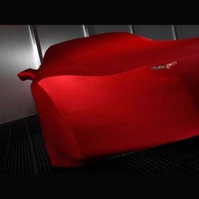 GM C6 Corvette indoor car cover in Red - 19158374