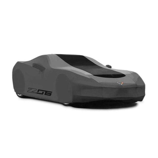GM C7 Z06 Corvette outdoor car cover in black - 23187876