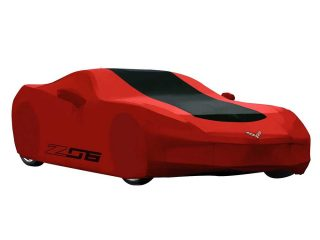 GM C7 Z06 Corvette outdoor car cover in red - 23187877