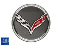 GM Crossed Flag Center Caps for C7 Stingray and Z06 Corvette