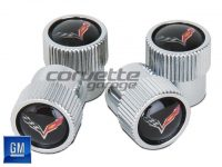 GM Valve Stem Caps for C7 Stingray and Z06 Corvette in Black