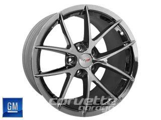 GM Spyder Wheels for C6 Z06 and Grand Sport Corvette - Metallic Gray