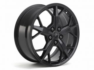GM C8 Aluminum 5-Trident Spoke Wheels for 2020+ Corvettes - Black - Side View