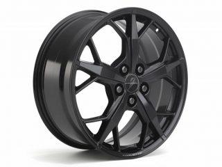 GM C8 Aluminum 5-Trident Spoke Wheels for 2020+ Corvettes - Black - Side View