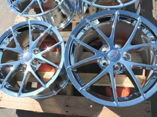 Z06 Corvette Spyder Wheel Set in Chrome