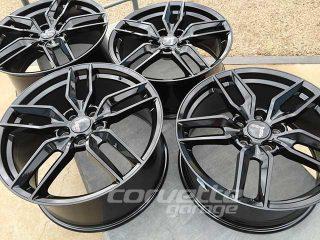 C7 Z51R Corvette Stingray Wheel Set in Black